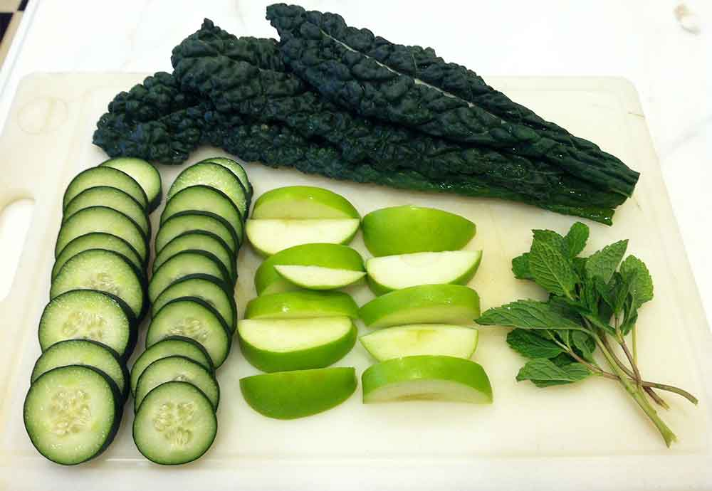 preparing to detox | cucumbers, kale, greens